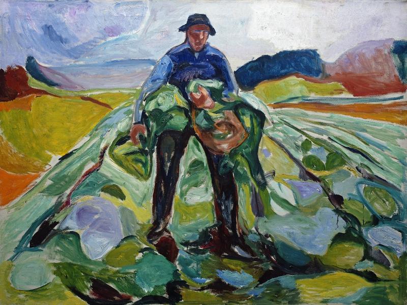 NOR Mannen i kålåkeren, ENG Man in the Cabbage Field