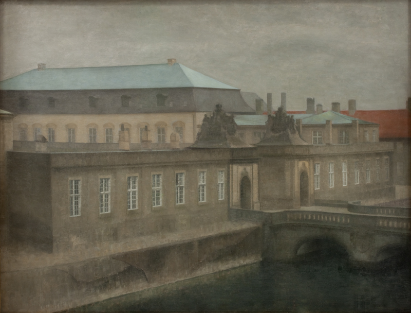 Vilhelm Hammershoei (1864-1916), Fra det gamle Christiansborg. Sent efteraar, 1890-1892