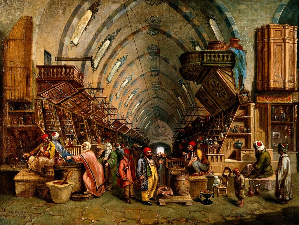 a_bazaar-_oil_painting-_wellcome_v0017599