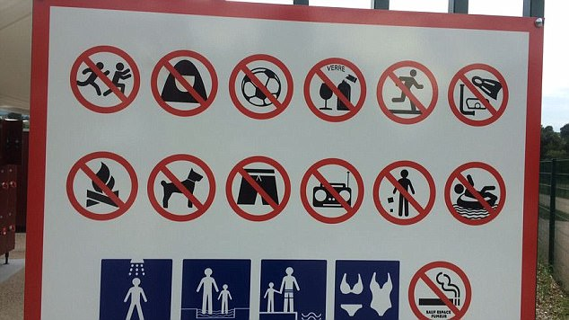 34344401dd The mayor of Lorette, Gerard Tardy, banned burkinis and other Muslim  clothing at a new outdoor swim park. The regulation states: