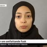 Er det iransk TV? Nei, det er svenske TV-nyheter…