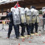 Demonstranter som bombarderte Sian-markering fikk uniformert politi på døra – og 12.000 i bot