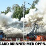 Sveriges kulturarv brennes ned